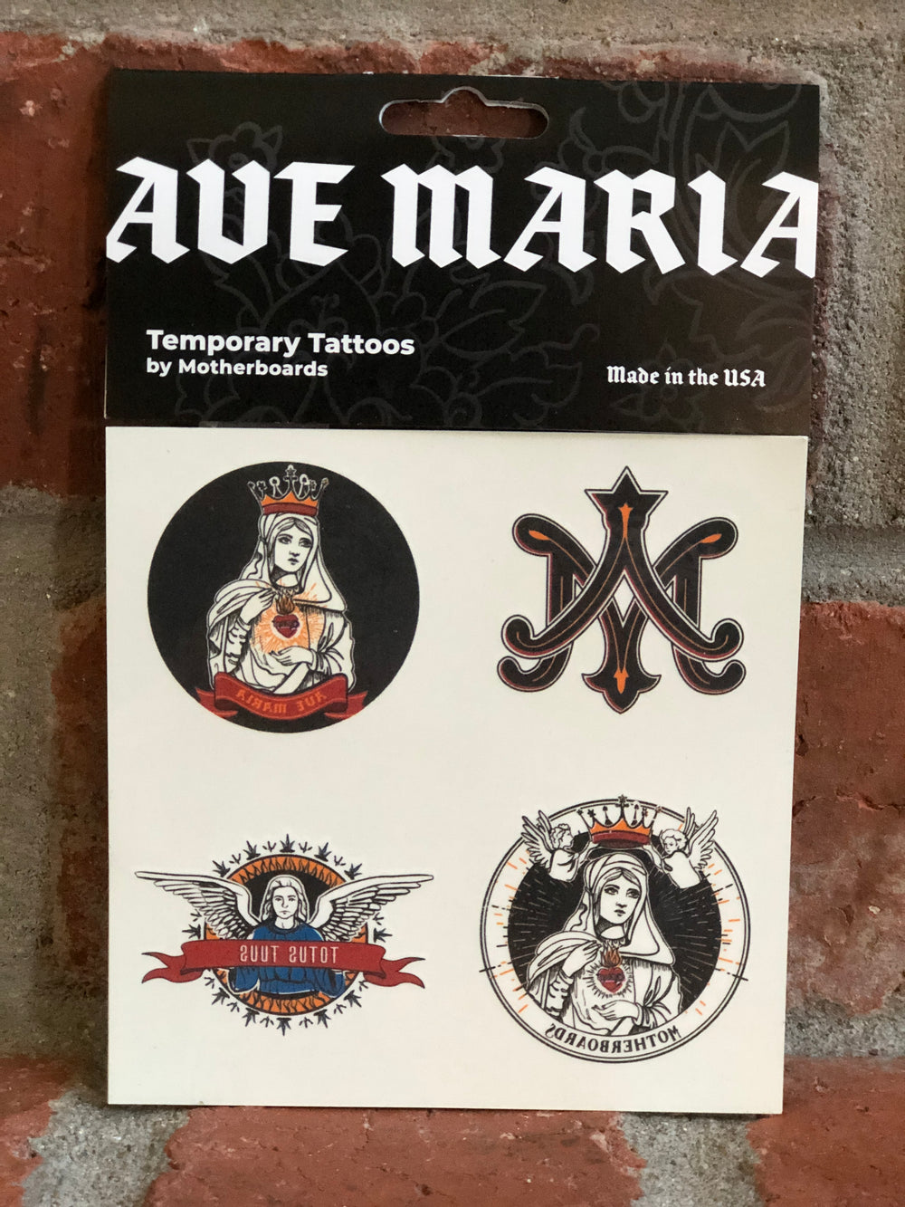 Ave Maria Temporary Tattoos