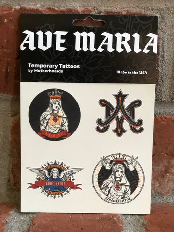 Ave Maria Temporary Tattoos, NEW and Made in the USA