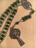 Emerald Celtic Cross Ladder Rosary by Cruciform