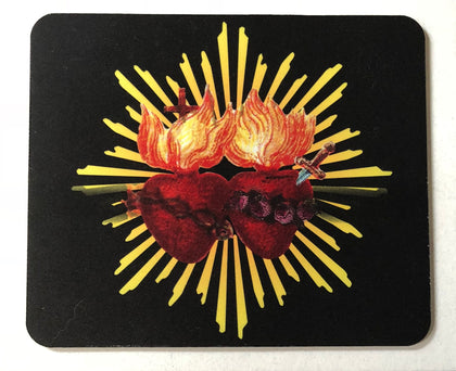 Sacred Heart & Immaculate Heart Mouse Pad