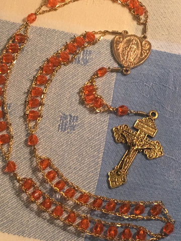 Hyacinth Miraculous Medal Ladder Rosary by Cruciform