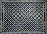 Sundar Bone Inlay Tray / Blue