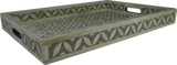 Sundar Bone Inlay Tray / Grey