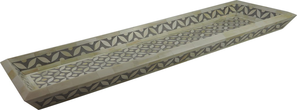 Vilasita Bone Inlay Tray / Grey