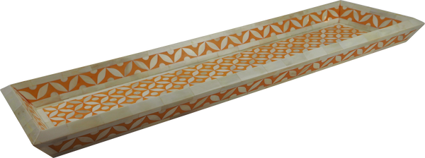 Vilasita Bone Inlay Tray / Orange