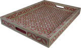 Sundar Bone Inlay Tray / Pink