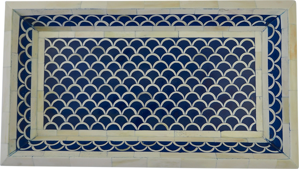 Shanti Bone Inlay Tray / Blue