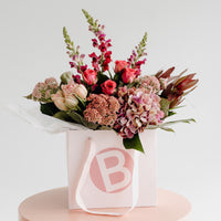 MOTHER'S DAY FLOWER BOUQUET, LUXE FLORALS + MAISON BALZAC CANDLE