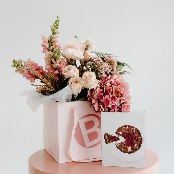 MOTHER'S DAY FLOWER BOUQUET, LUXE FLORALS + THE CAKER KIT