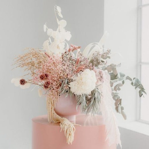 BLUSH COMPOTE AND FOREVER FLOWERS