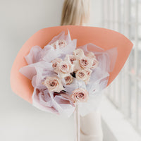 1 DOZ. ROSES, WRAP BOUQUET