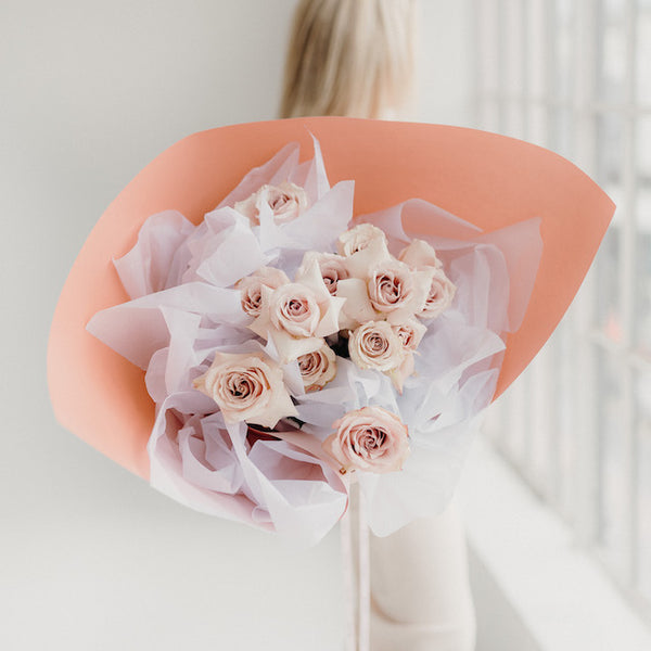 NEW FLOWER BOUQUET, 1 DOZ. ROSES