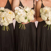 Bridesmaids Bouquet - White Tones (Modern + Tailored)