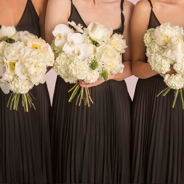 Bridesmaids Bouquet - wedding-flowers-roses-orchidshydrangeas-auckland