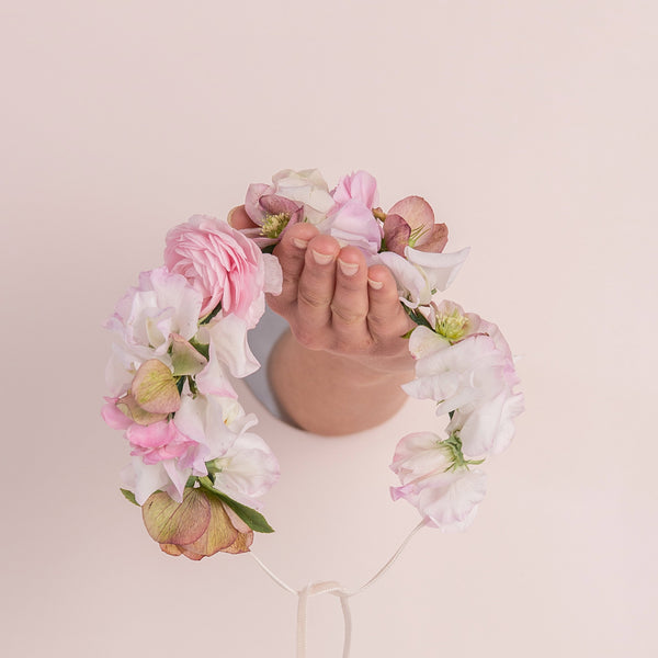 Flower Crown - Pastel -flowers-hairflowers - weddings-auckland