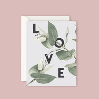 Father Rabbit Card - Eucalyptus Love
