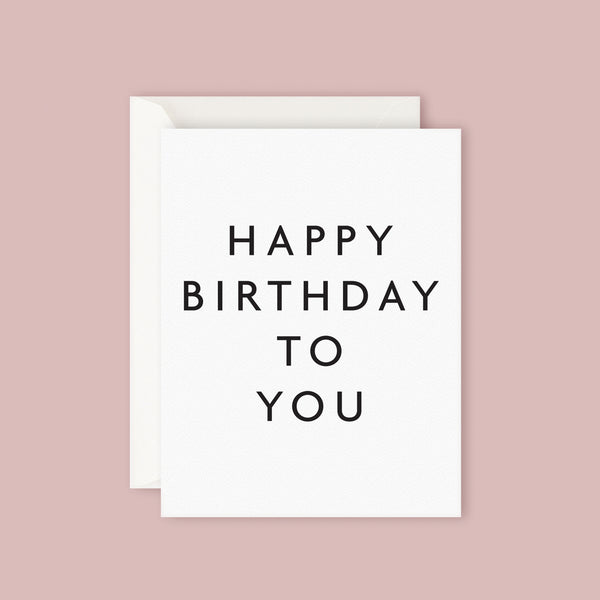 Father Rabbit Card - Happy Birthday to You