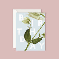 Father Rabbit Card - Floral Birthday