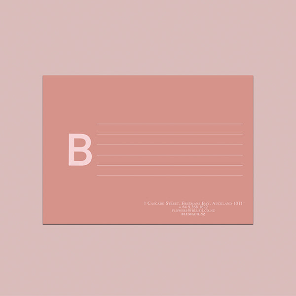 YOUR BLUSH CARD