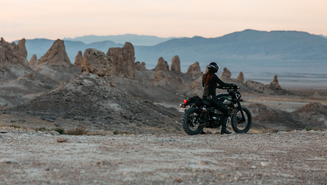 ATWYLD Voyager Tamara Raye takes her Triumph Scrambler off the grid