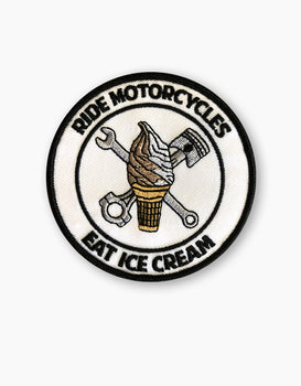 RIDE MOTORCYCLES EAT ICE CREAM PATCH