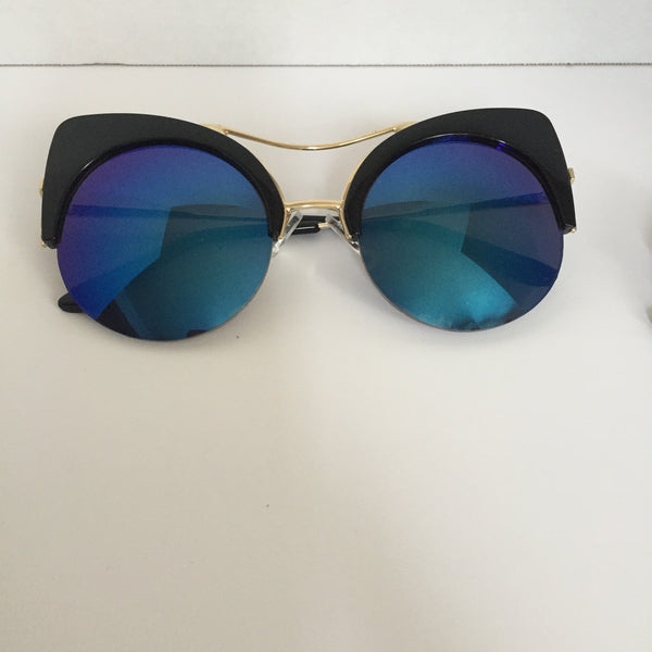 half rimless sunglasses