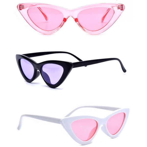 Carbi B triangle retro sunglasses