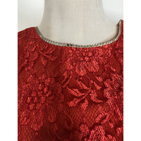 Vintage red lace peplum dress