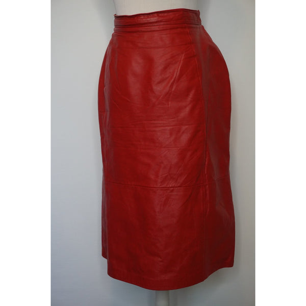 Vintage Red leather skirt