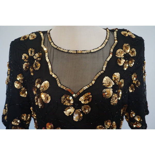 Vintage Sequin top m/l