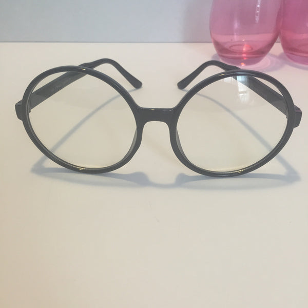 Gigi big clear round glasses