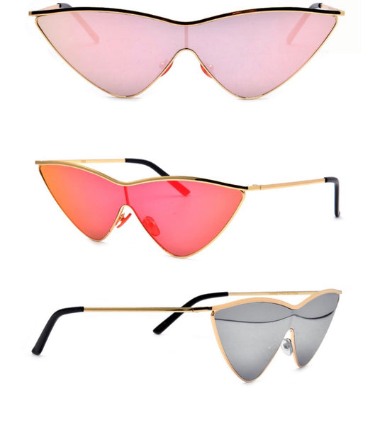 triangle flat sunglasses