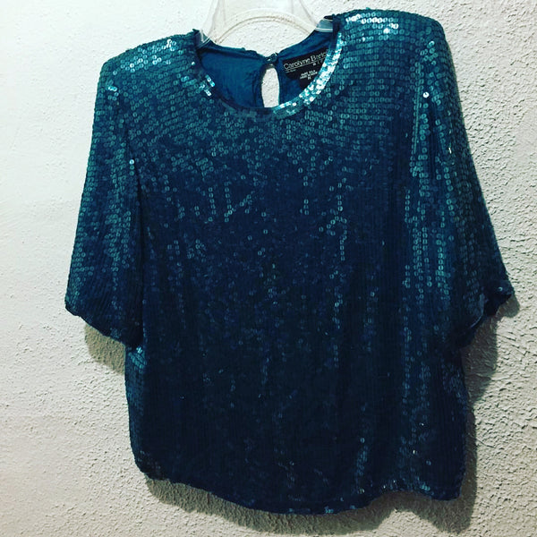 Sequins short sleeve top