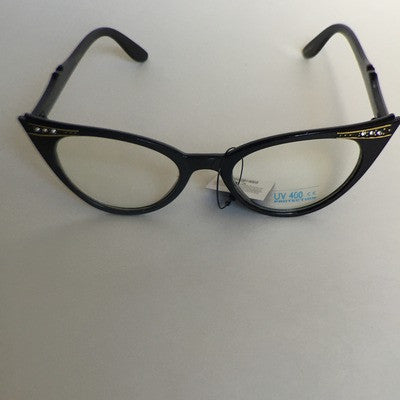 50's style cat eye fashion glasses
