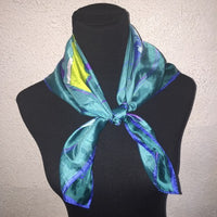 Vintage blue map scarf