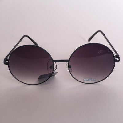 Big rounds hippie style frame sunglasses