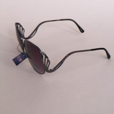 metal frame Square granny style sunglasses