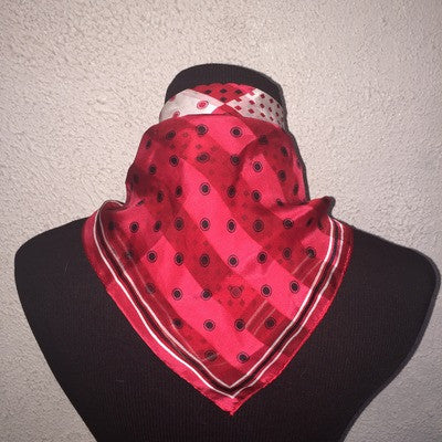 Red black and white scarf