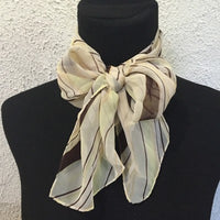 Vintage Cream stripped scarf