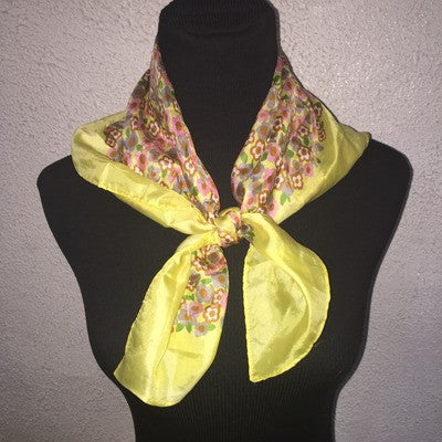 Yellow  multi scarf