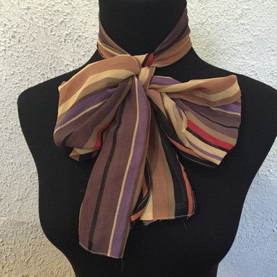 Brown vintage stripped scarf