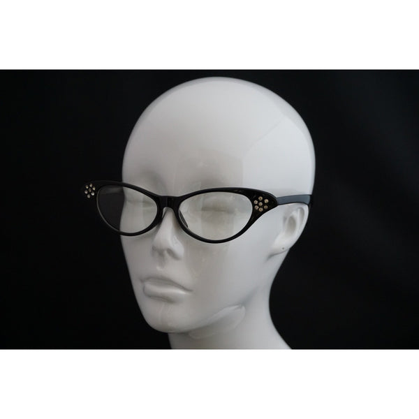 50's style clear lens glasses