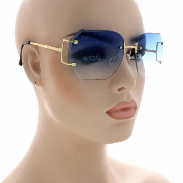 Rimless granny sunglasses