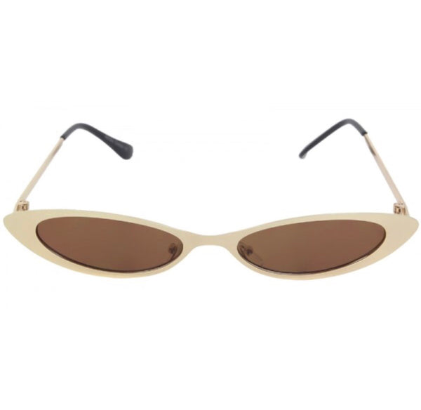 Slim oval metal sunglasses