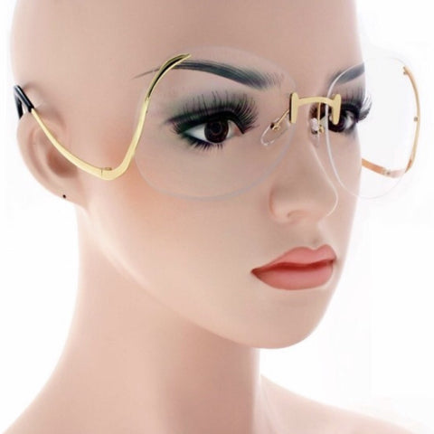 Audrey rimless fashion granny glasses