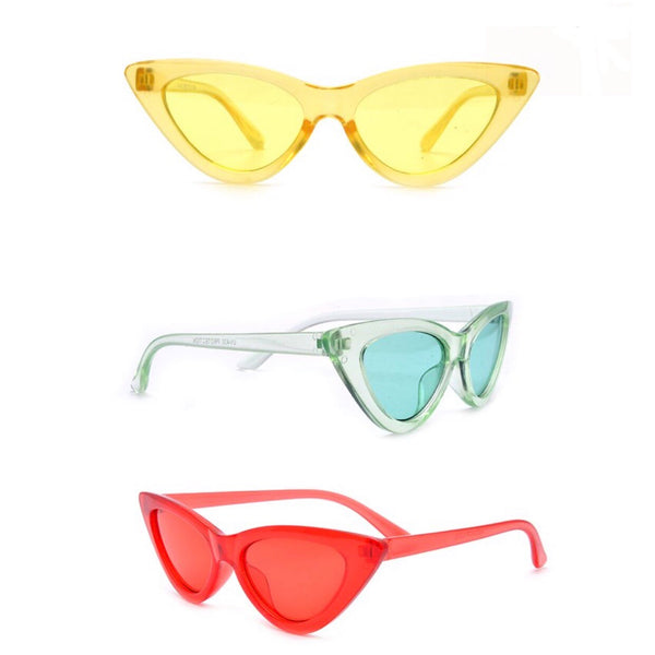kids clear color triange sunglasses