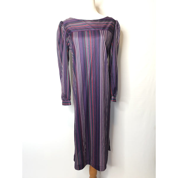 Vintage Stripped purple dress