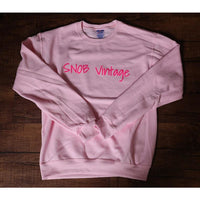 Unisex pink sweat shirt