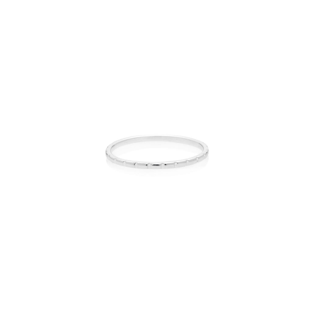 ANILLO CHECKERS SILVER