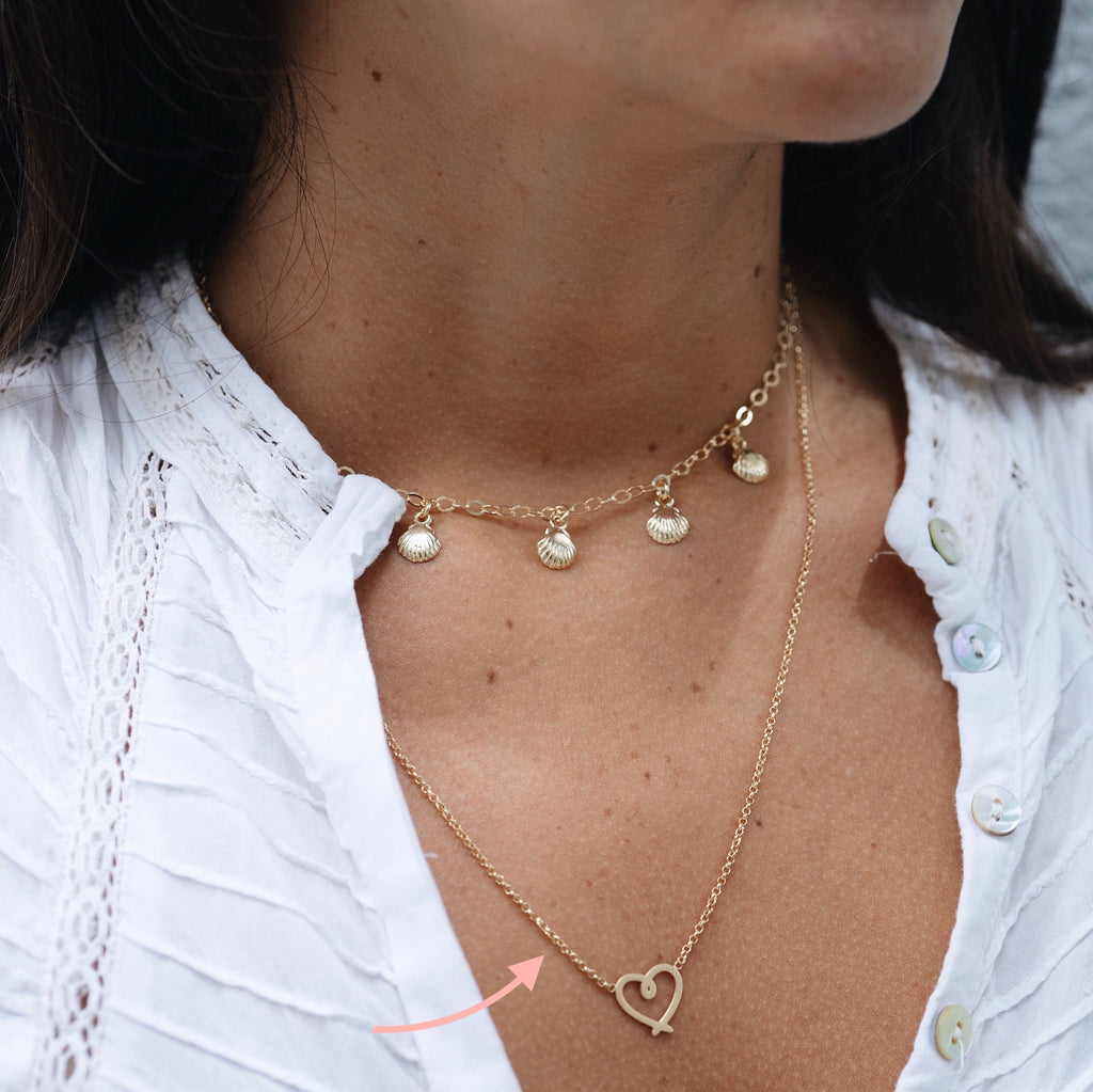 Collar Corazon Entorchado Gold